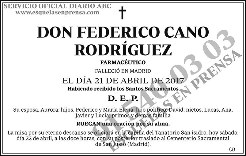 Federico Cano Rodríguez